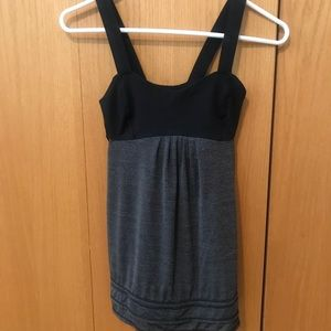 Lululemon top gray and black, like new condition